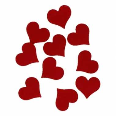 10 stuks hobby hartjes van vilt