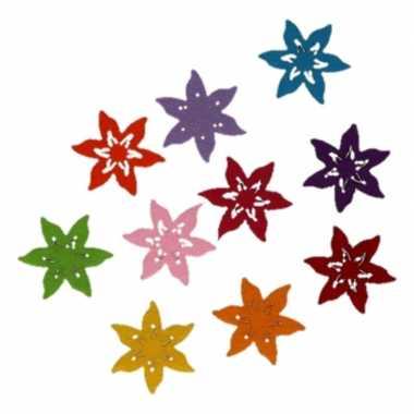 10 stuks hobby ster bloemen van vilt