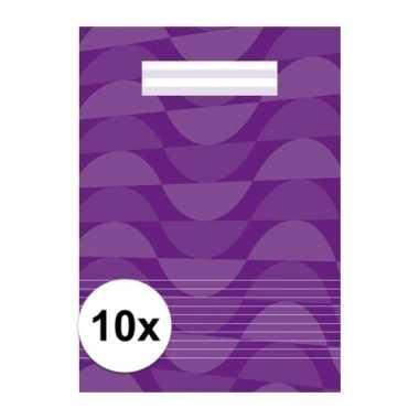 10 x schoolspullen schriften a4 gelinieerd paars