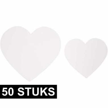 100 stuks deco papieren hartjes