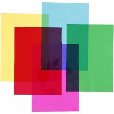 100 vellen cellofaan in 5 kleuren