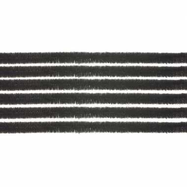 100x hobby chenille draad zwart 50 cm