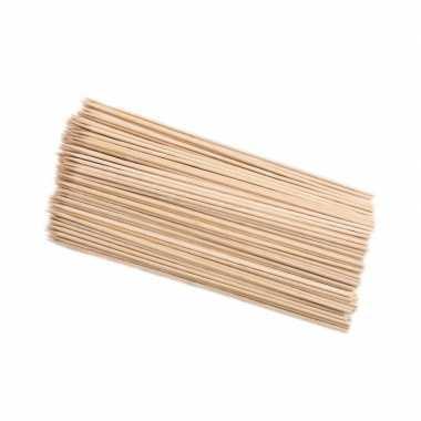 100x houten hapjes prikkers 25 cm