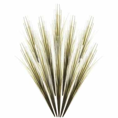 10x groene grassprieten kunsttakken 58 cm