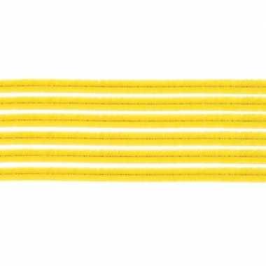 10x hobby chenille draad geel 50 cm