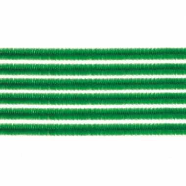 10x hobby chenille draad groen 50 cm