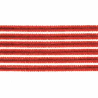 10x hobby chenille draad rood 50 cm