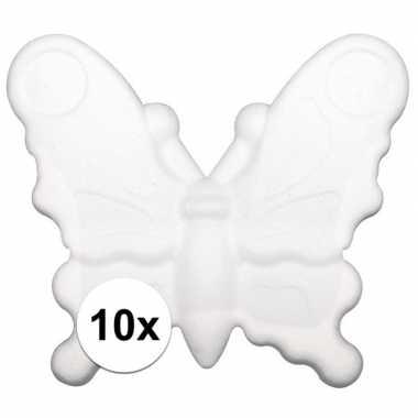 10x piepschuim vlinders van 12,5 cm