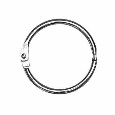 10x sleutelringen/boekringen 25 mm