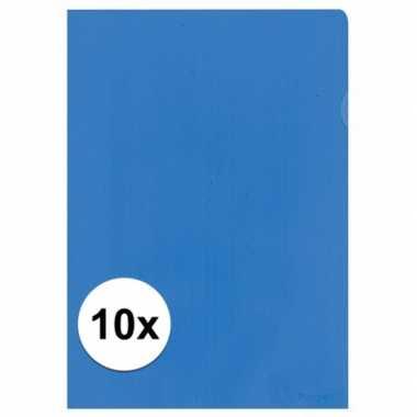 10x tekeningen opbergmap a4 blauw