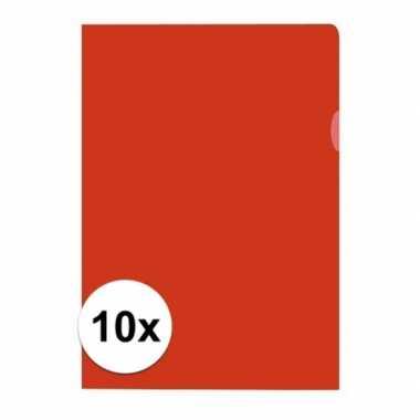 10x tekeningen opbergmap a4 rood