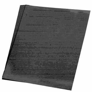 10x vellen hobby karton zwart van 48x68 cm