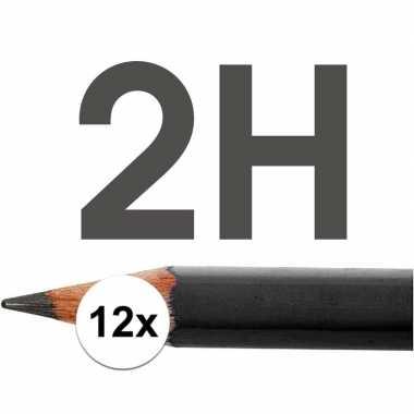 12x 2h potloden voor professioneel gebruik