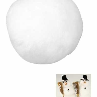 12x kunst sneeuwbal van acryl 7,5 cm
