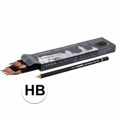 12x professionele potloden hardheid hb