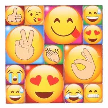 13x smiley/emoticon magneetjes emoji type 4