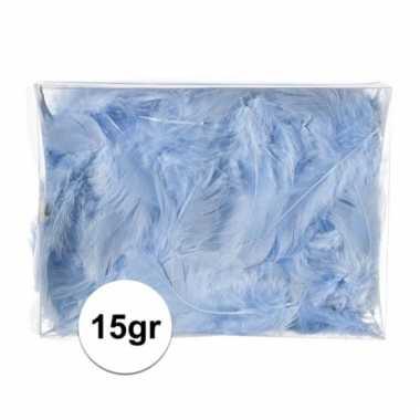 15 gram hobby donsveertjes blauw