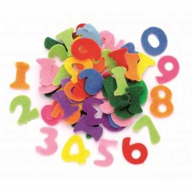 150 stuks hobby alfabet cijfers van vilt