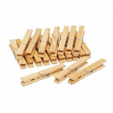 150x houten wasgoedknijpers / knijpers