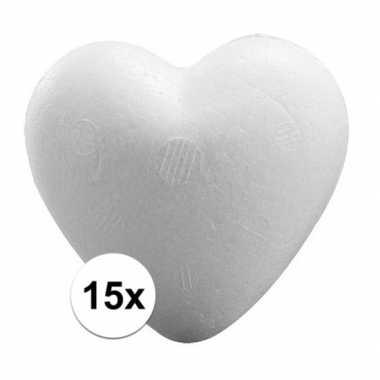 15x knutsel hartjes piepschuim 9 cm