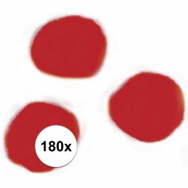 180x hobby pompons 15 mm rood