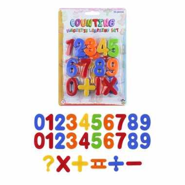 1x set schoolbord cijfers magnetisch 26 stuks