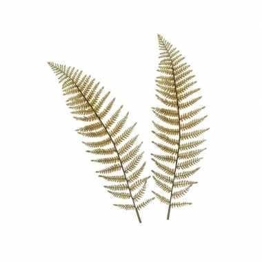 2 stuks nep planten ledervaren varen bruin kunstbloemen takken 100 cm