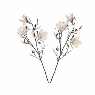 2 stuks nep planten magnolia beverboom kunstbloemen takken 188 cm dec