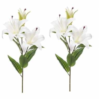 2 stuks nep planten witte lilium candidum witte lelie kunstbloemen 78