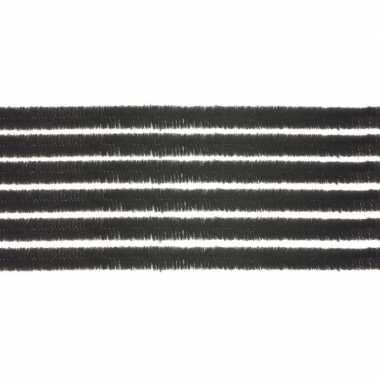 20x hobby chenille draad zwart 50 cm