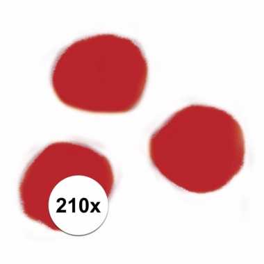 210x hobby pompons 7 mm rood