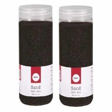 2x 475 ml fijne zandkorreltjes zwart