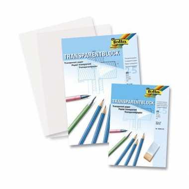 2x blokken transparant overtrekpapier a4