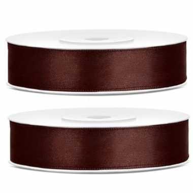 2x cadeaulint bruin 12 mm