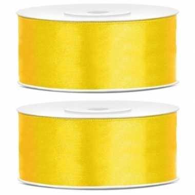 2x cadeaulint geel 25 mm