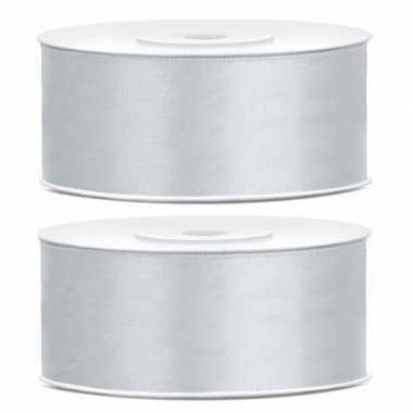 2x cadeaulint zilver 25 mm