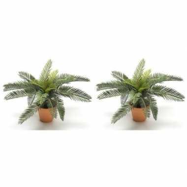 2x nep planten groene vredespalm 28 cm met pot