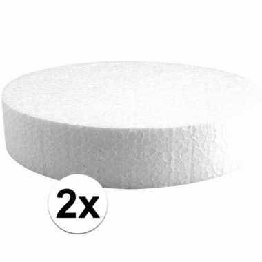 2x piepschuimen taart schijven 20 cm