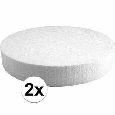 2x piepschuimen taart schijven 25 cm