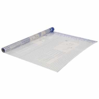 2x stuks rollen transparante boeken kaftfolie zelfklevend 50 x 150 cm