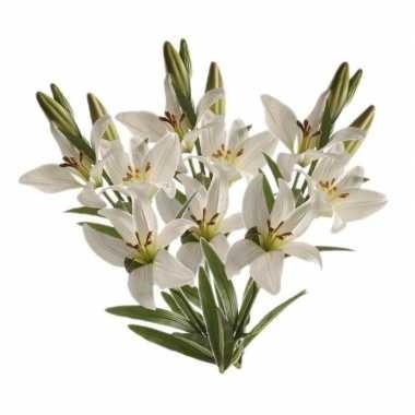 3 stuks nep planten witte lilium candidum witte lelie kunstbloemen 70