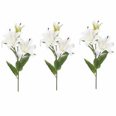 3 stuks nep planten witte lilium candidum witte lelie kunstbloemen 78