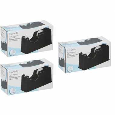 3 stuks plakband houders zwart 15 cm