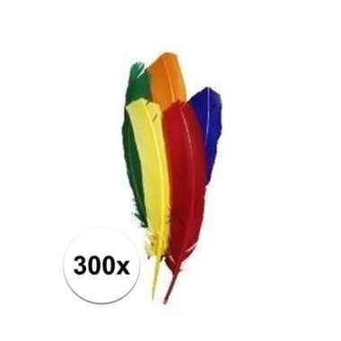 300x gekleurde knutsel veertjes