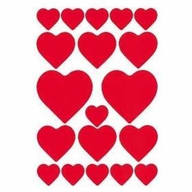 3d valentijn stickers 57 stuks