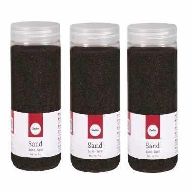3x 475 ml fijne zandkorreltjes zwart