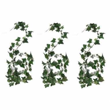 3x nep planten groene hedera helix klimop kunstplanten 180 cm