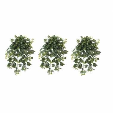 3x nep planten groene hedera helix klimop weerbestendige kunstplanten
