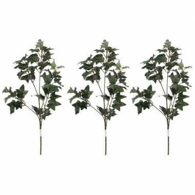 3x nep planten hedera klimop kunstbloemen takken 55 cm decoratie