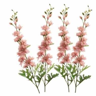 4x delphinium kunst tak 70 cm roze